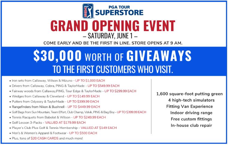 pga tour superstore grand opening june 1 in braintree