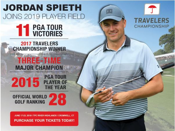 37e250c4aeb JORDAN SPIETH COMMITS TO TRAVELERS CHAMPIONSHIP | New England dot Golf